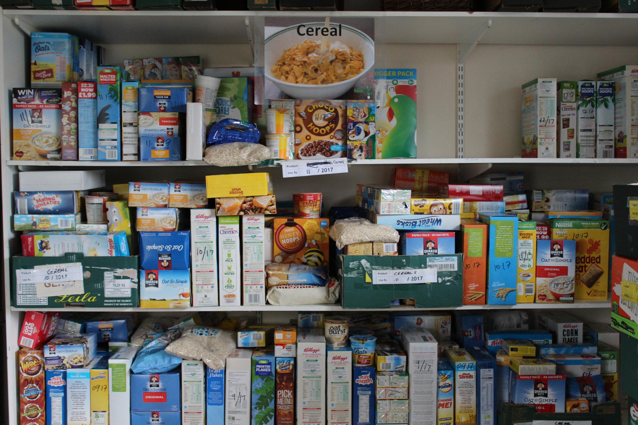 Food at Widnes Foodbank